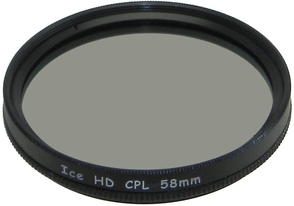 ICE HD 58mm CPL 58 MC Filter Circular Polarizer Hard Coated EZ Clean 16 Layer Multi-Coated