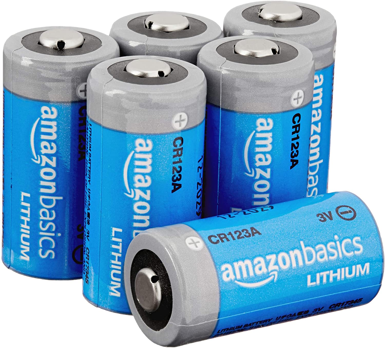 DHgateBasics Lithium CR123a 3 Volt Battery - Pack of 6