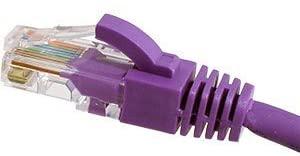 Cables UK Cat6 UTP 24 AWG Flush Snagless Cable Violet 3m