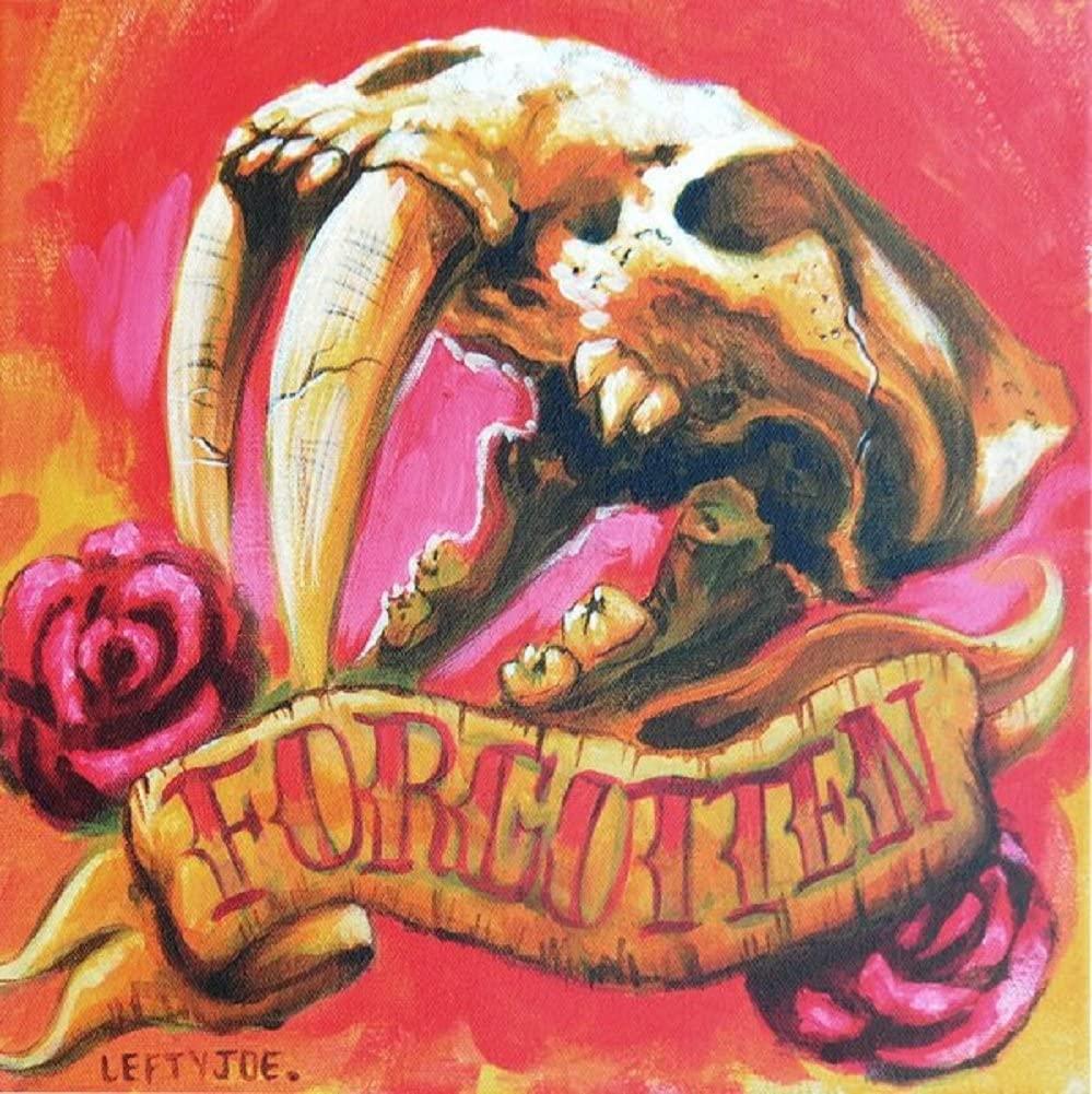 Forgotten by Lefty Joe Animal Skull Unframed Canvas or Paper Wall Art Print