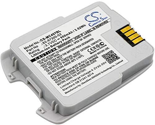 950mAh Replacement for Motorola CS4070, CS4070-SR Battery, P/N 82-97300-02, BTRY-CS40EAB00-04