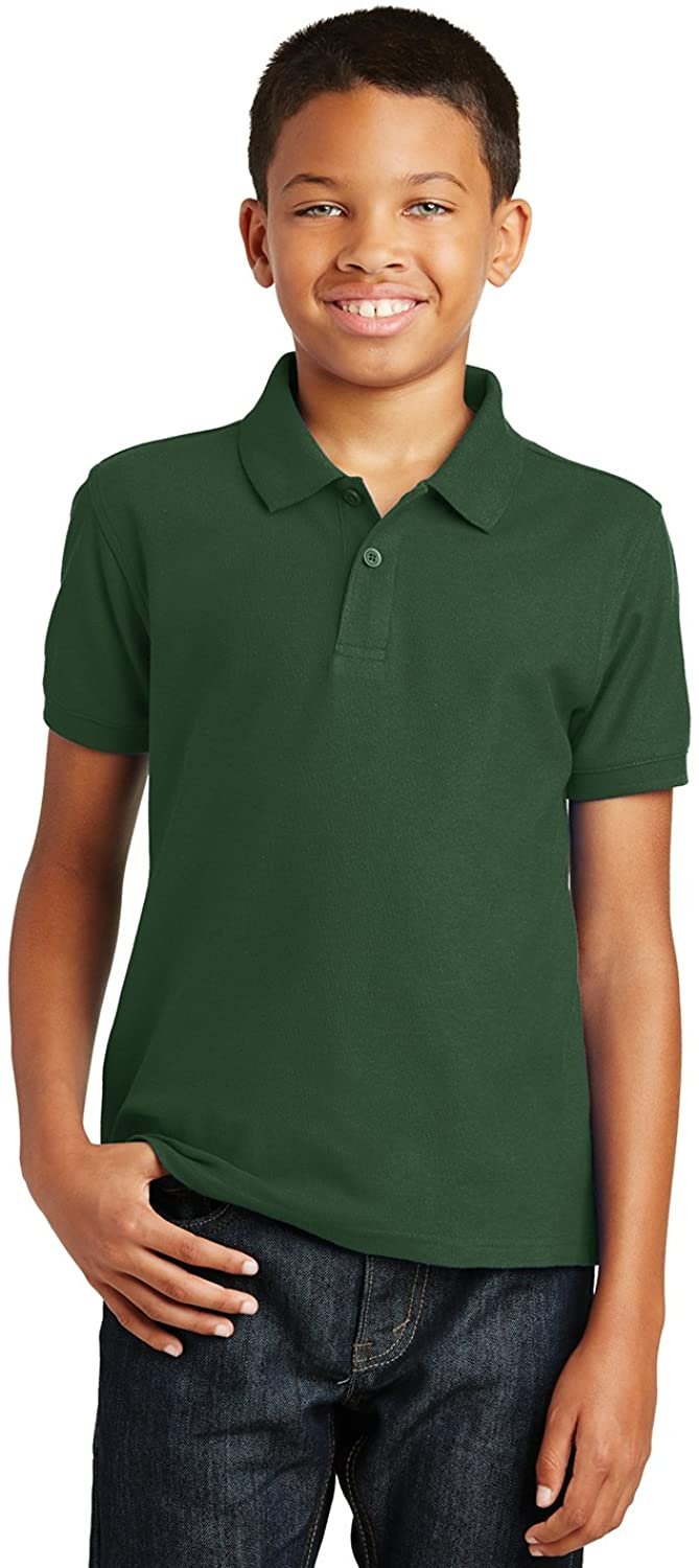 Port Authority Boys Core Classic Pique Short Sleeve Collared Golf Polo