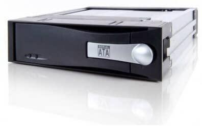Icy Dock MB123SK-1B Black 5.25 SATA I II & III Mobile Rack Removable Hard Drive Enclosure Kit Compact Version