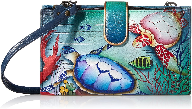 Anuschka Women's, Handpainted Leather Large Smart Phone Case & Wallet