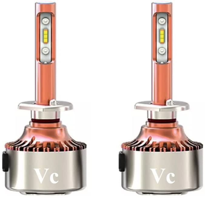 Vc H1 LED Fog Light Bulbs for DRL or Fog Lights, LED Headlight Kit Car Bulbs, Auto LED Conversion Kit 12v Replace for Halogen Lamps or HID Light Bulbs, 2-Year Warranty