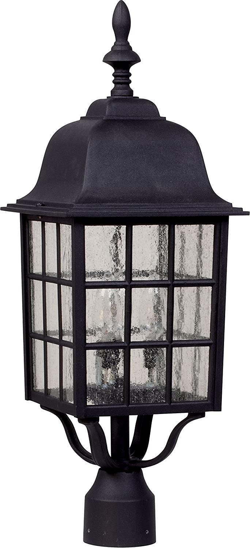 Craftmade Z575-TB Grid Cage Outdoor Pier Mount Post Lighting, 3-Light, 180 Watts, Textured Matte Black (9