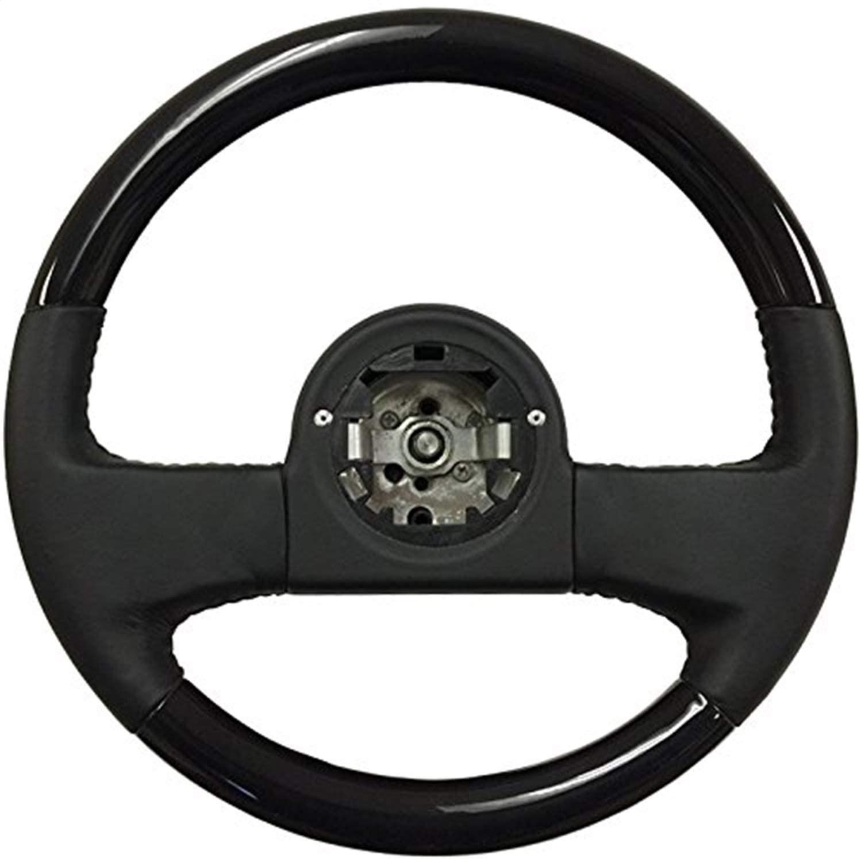 Volante ST1030BW Steering Wheel (Black Leather/Wood); 1984-1989 Chevy Corvette