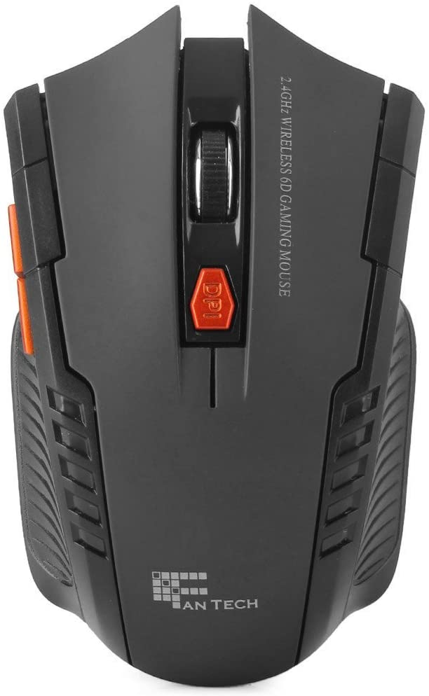 W4 2.4GHz 6D 2400DPI Wireless Optical Gaming Mouse with Receiver