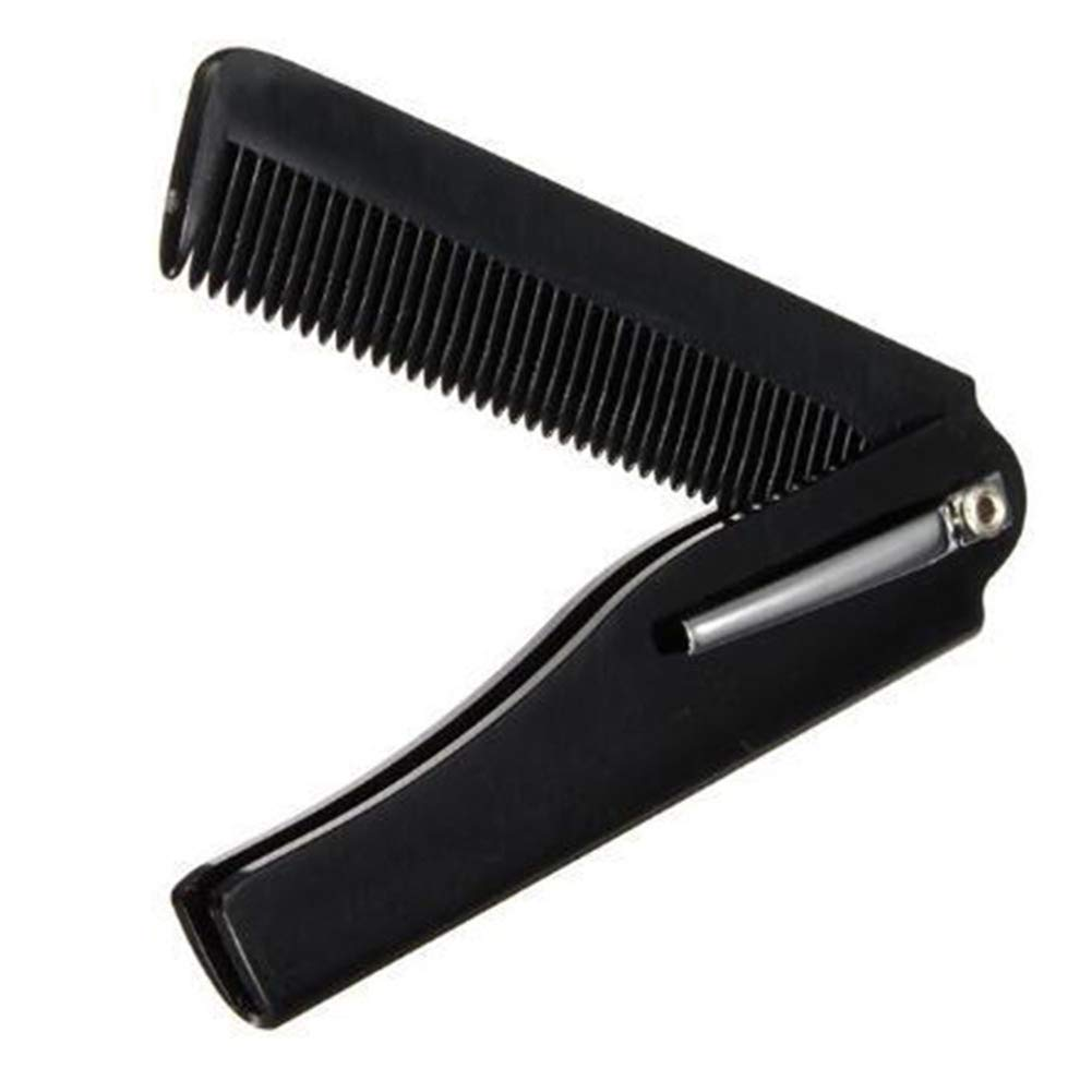 balloonbobo Portable Beard Comb Folding Combs Hair Styling Hairstylist Hairdressing Detangle Beard Comb Black
