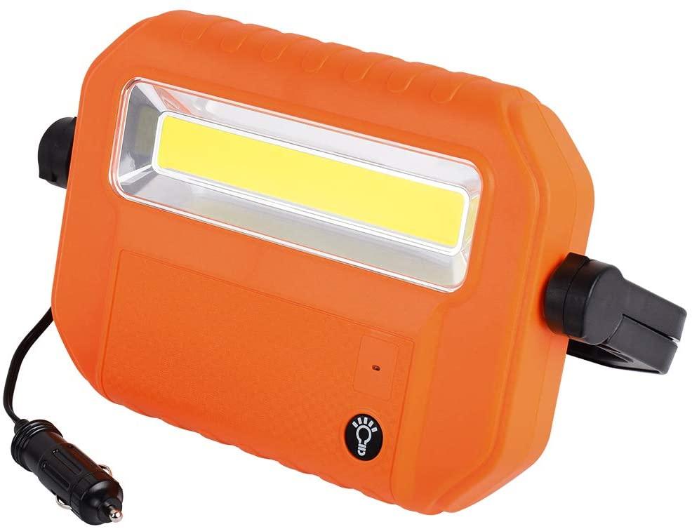 Portable 12V Auto Repair Work Light,1200 Lumen 12V Stand Car Inspection Light, COB LED Flood Inspection Lights for Outdoor Emergency Car Repairing Garage Job Site Lighting