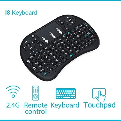 Calvas I8 keyboard 2.4 GHz Sans Fil i8 Clavier Touchpad Fly Air Mouse Pour Android TV box Gaming Mini PC English Russian Spanish - (Color: I8-Spanish)