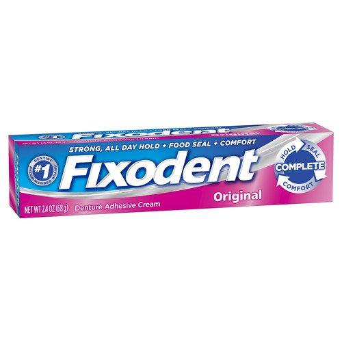 Fixodent Denture Adhesive Cream, Original, 2.4 oz Pack of 2