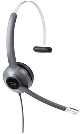 Cisco 521 Headset - Mono - Mini-Phone, USB - Wired - Over-The-Head - Monaural - Supra-aural - Uni-Directional, Electret, Condenser Microphone - Black