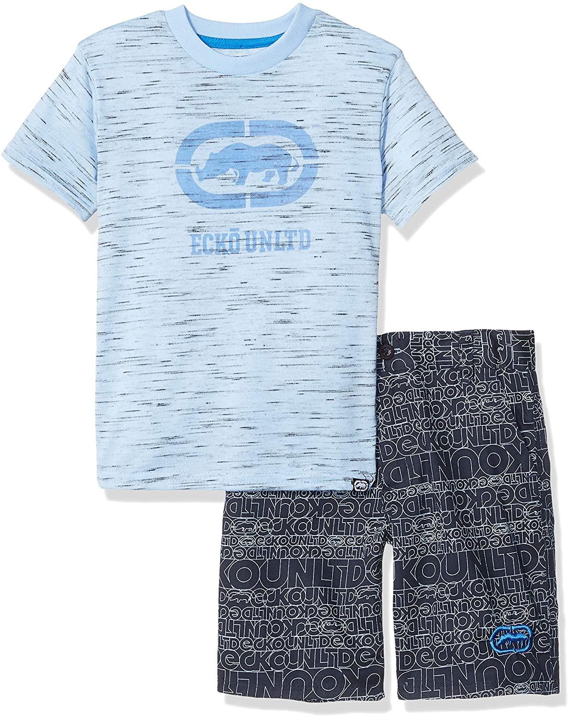 Marc Ecko Boys Sleeve Rhino T-Shirt and Logo Short