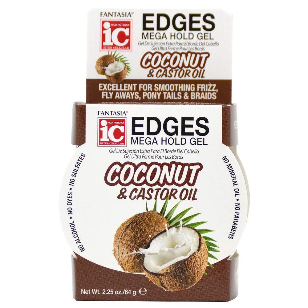 Fantasia Ic Coconut & Castor Oil Edges Mega Hold Gel