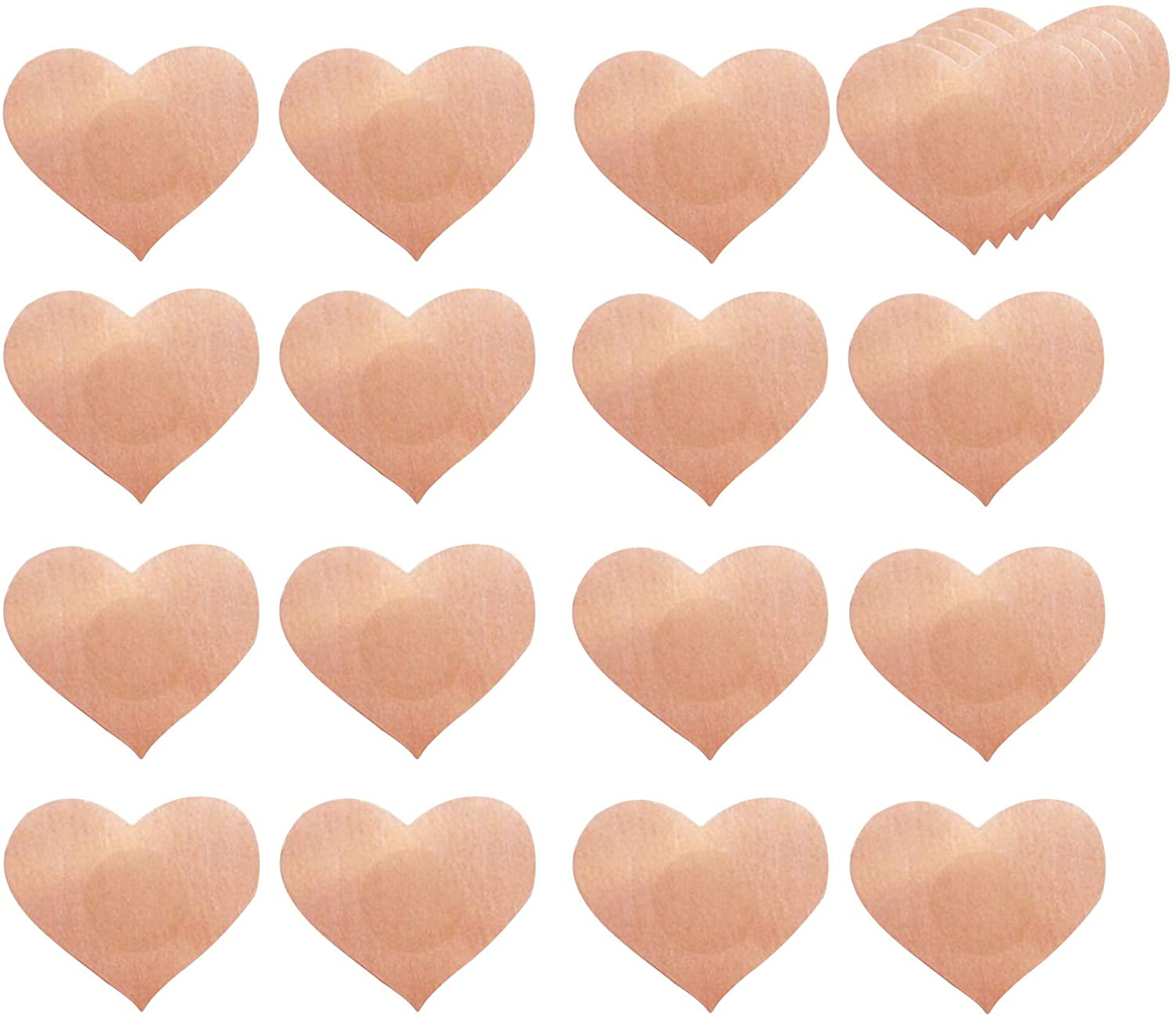 Airbin Nipple Covers,Heart Shaped Sexy Breast 10 Pairs Disposable Bra