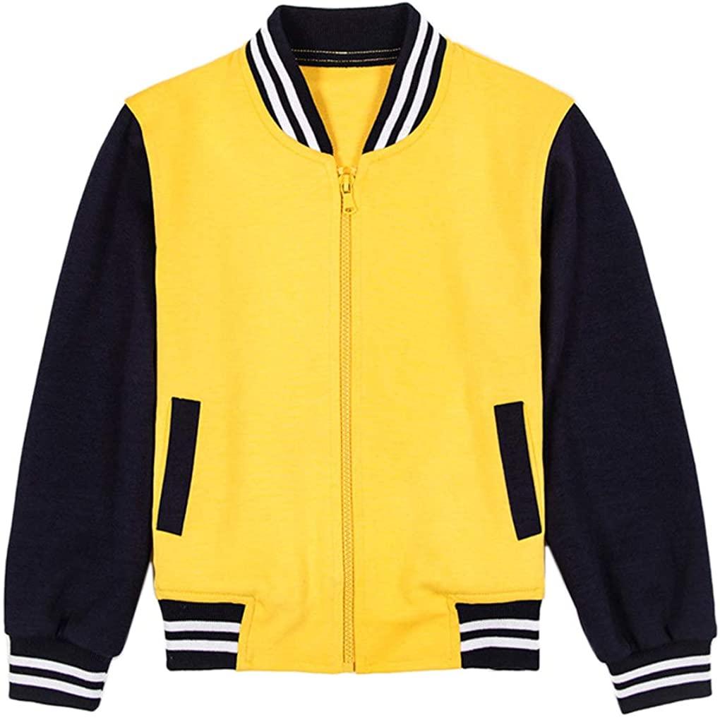Boys Girls Kids Sports Set Baseball Uniform Jacket Fashion Coat Sweater Pants