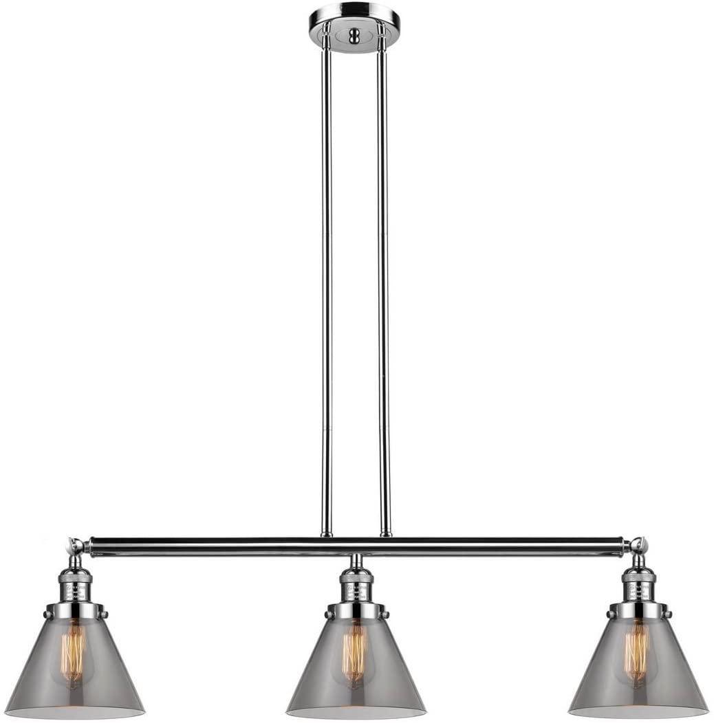 Innovations 213-PN-S-G43-LED 3 Vintage Dimmable LED Adjustable Island Light, Polished Nickel