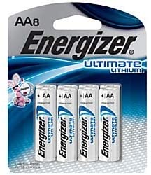 Energizer Photo Ultimate Lithium AA Batteries, Pack of 8 Batteries