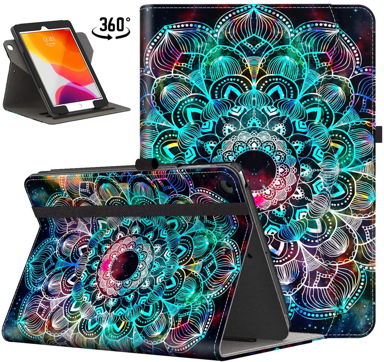 IKEVER iPad 10.2 Case 2019 7th Generation iPad Cases with 360 Degree Rotating,Auto Wake/Sleep Shockproof Smart Cover for iPad 10.2 Inch (Mandula)