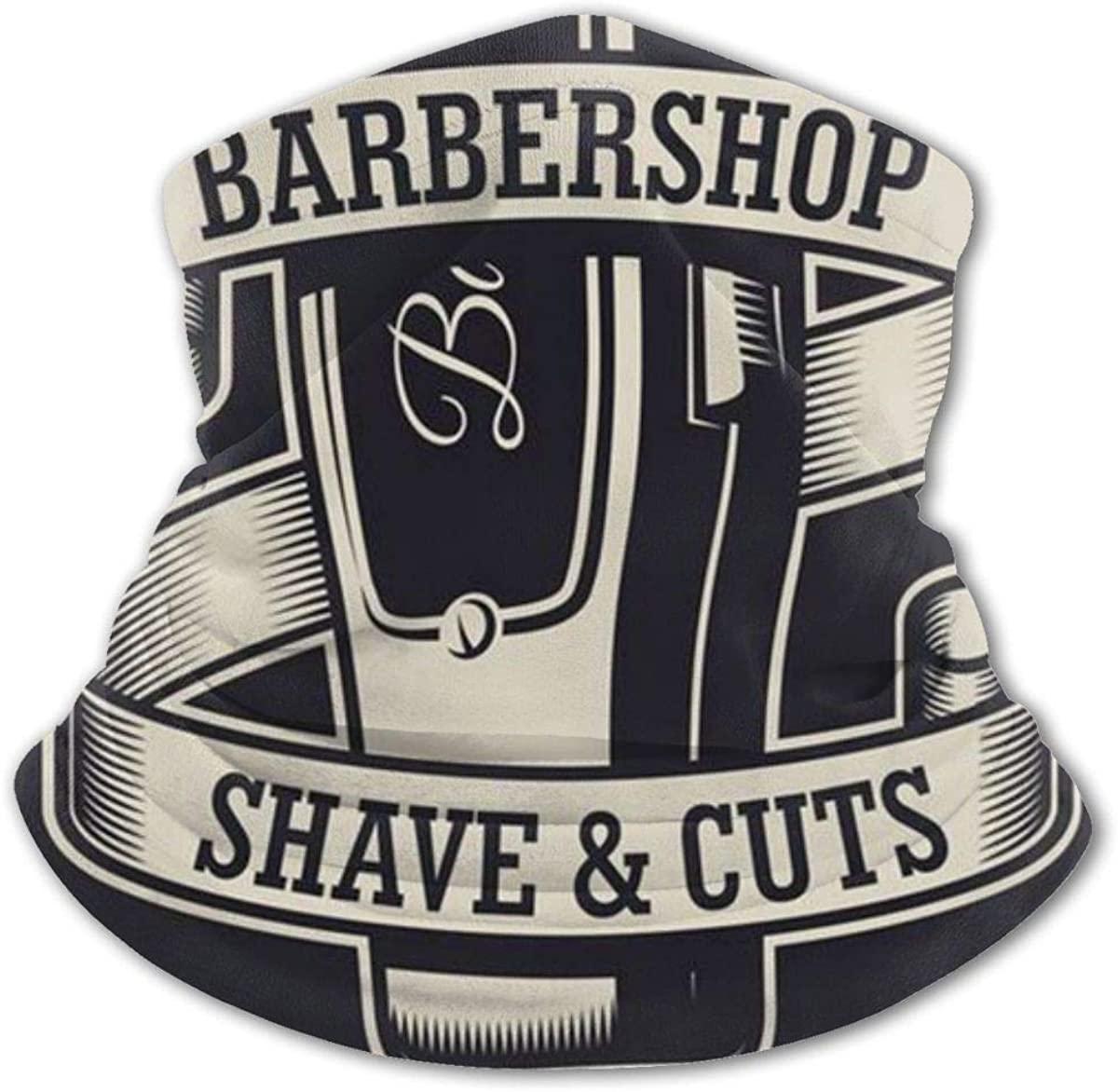 Barbershop Shaver Headwear For Girls And Boys, Head Wrap, Neck Gaiter, Headband, Tenn Fishing Mask, Magic Scarf, Tube Mask, Face Bandana Mask For Camping Running Cycling