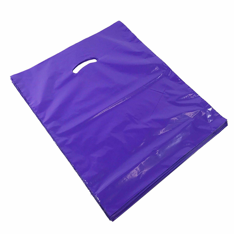 Black Cat Avenue Premium Heavy Duty Glossy Plastic Merchandise Bags with Handle, 4