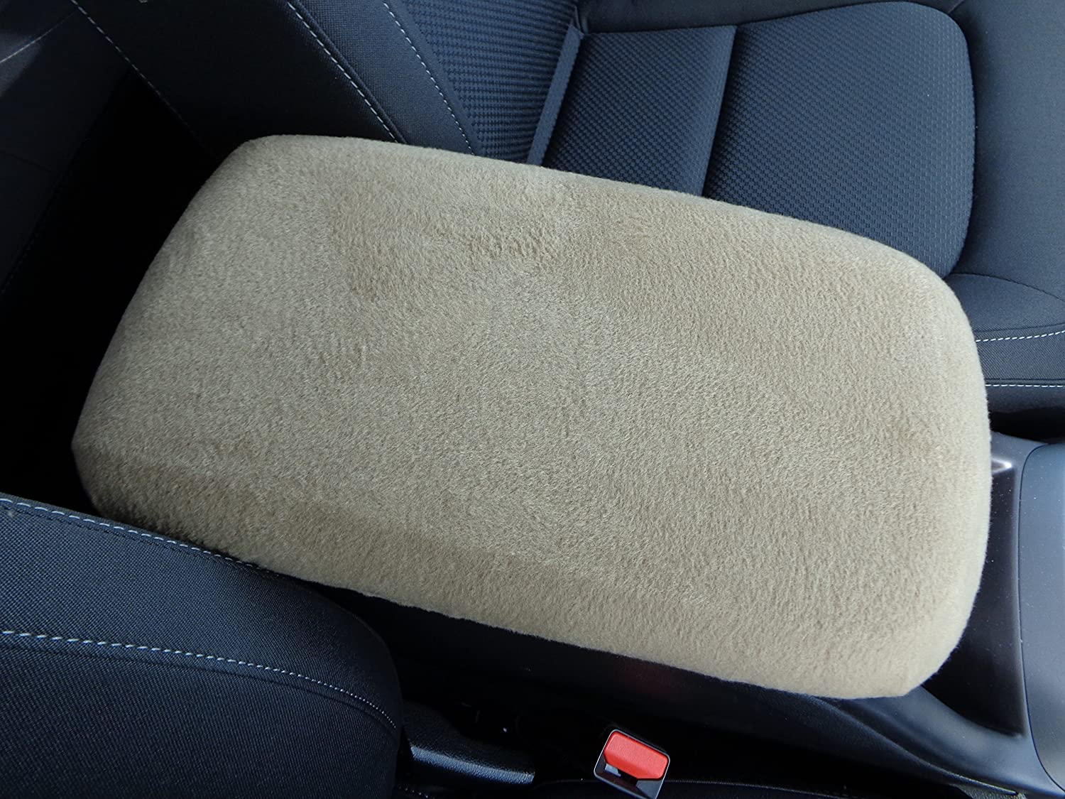 Car Console Covers Plus Fits Lexus RX350 Luxury Vehicle 2015 Fleece Center Armrest Cover for Center Console Lid Made in USA Taupe