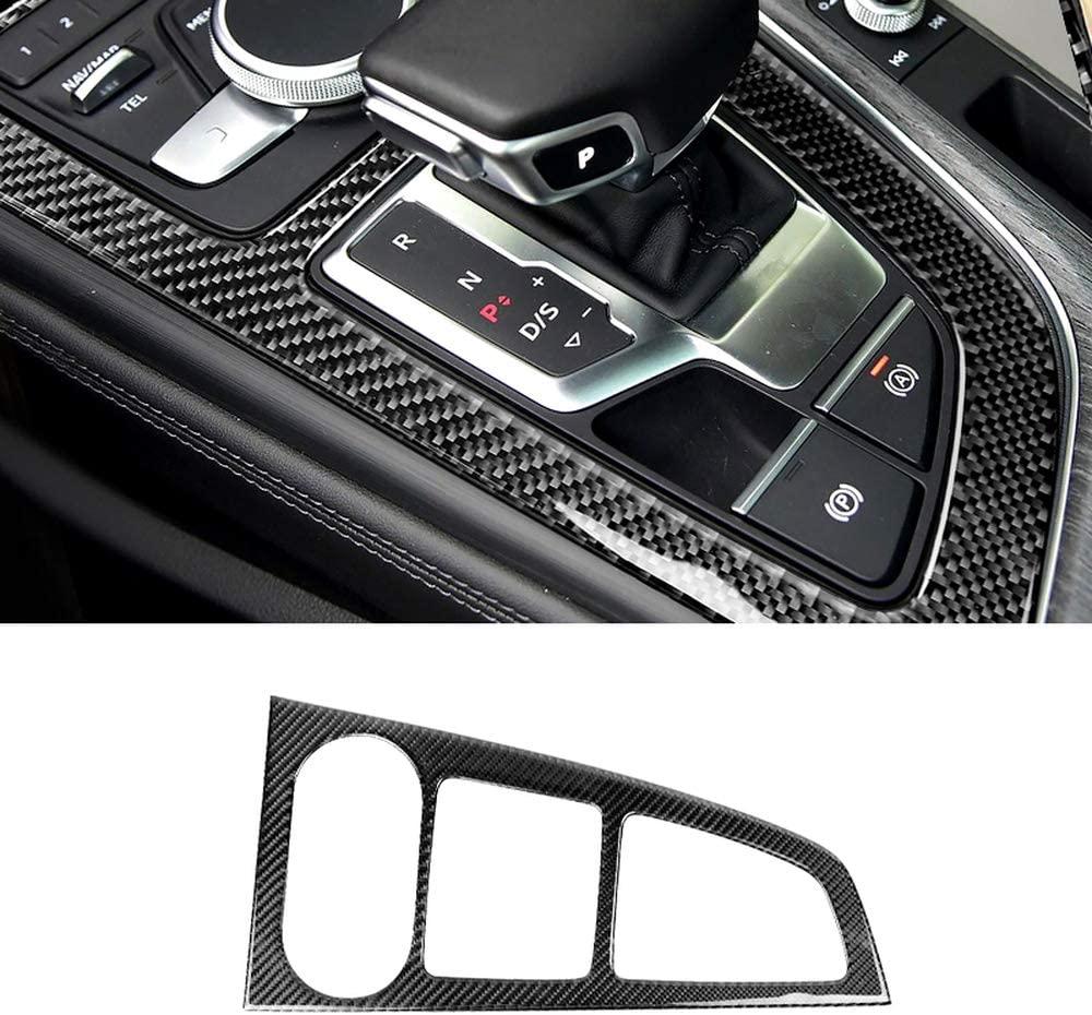 NsbsXs Automotive Interior,for Audi A4L A5 2017 2018 A4 B9 2016 2017 LHD Carbon Fiber Center Console Gear Shift Panel Cover Trim