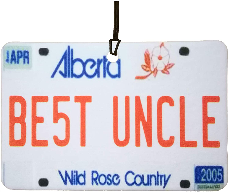 Alberta - Best Uncle License Plate Car Air Freshener