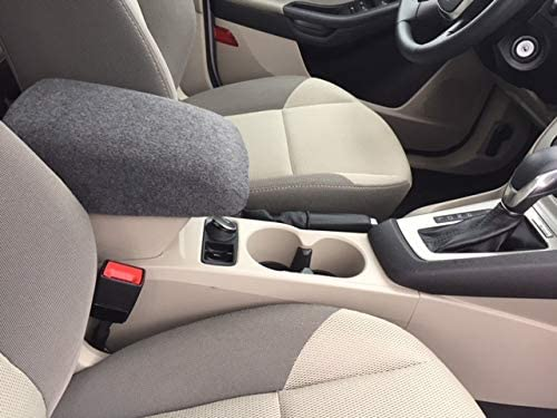 Auto Console Covers- Compatible with The Ford Focus 2008-2010 Center Console Armrest Cover Fleece Fabric-Dark Gray