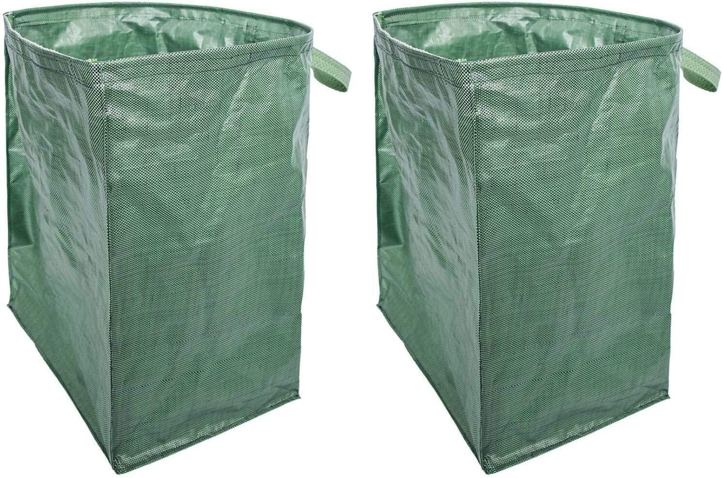 Zxcv Multi-Functional Reusable Heavy-Duty Garden Handbag Large-Capacity Garden Deciduous Bag Leaf Bag Gardening Bag 2 Packs