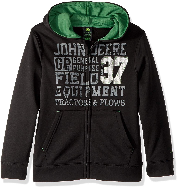 John Deere Boys' Big Fleece Zip Poly Hoody