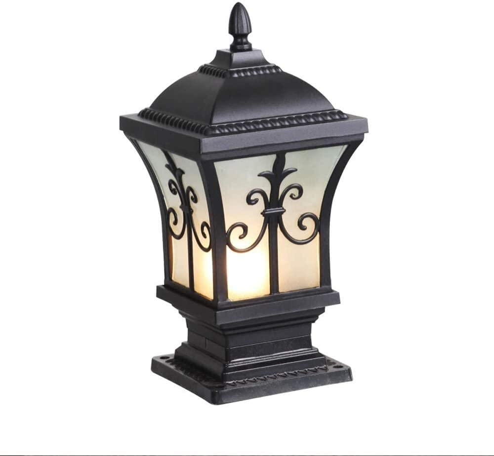 LGOO1 Creative Landscape Street Column Light Vintage European Simple Post Lamp E27 Aluminium Die-Casting Outdoor Pillar Lantern High Brightness Courtyard Stigma Illumination