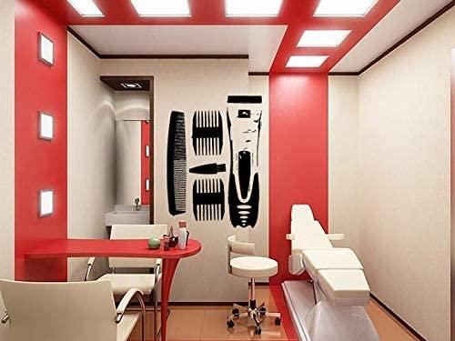 BYRON HOYLE Wall Window Decal Sticker Barber Shop Man Salon Haircut Beard Face Tools Logo Salon 921b