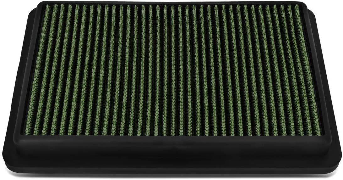 DNA Motoring AFPN-184-GN High Flow Washable Engine Drop-In Panel Air Filter For 12-18 CX-5 2.0 2.5,Green