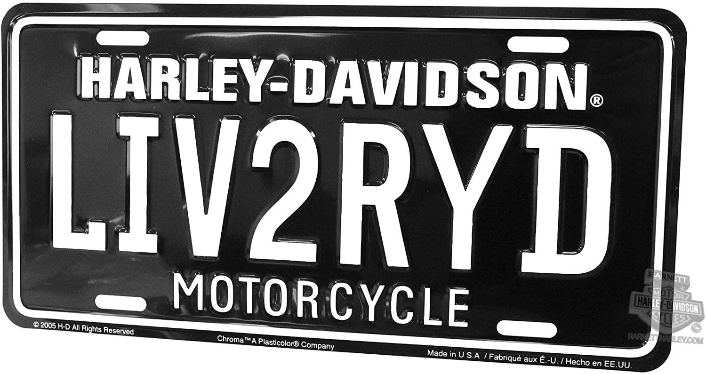Harley-Davidson Front License Plate LIV2RYD