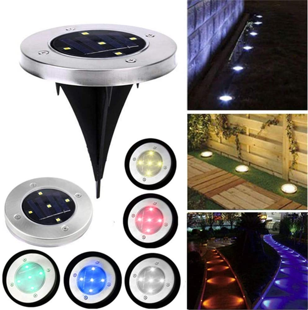 Takefuns Solar Powered Stainless 5 LED Ground Buried Light Waterproof for Outdoor Garden Path Decor