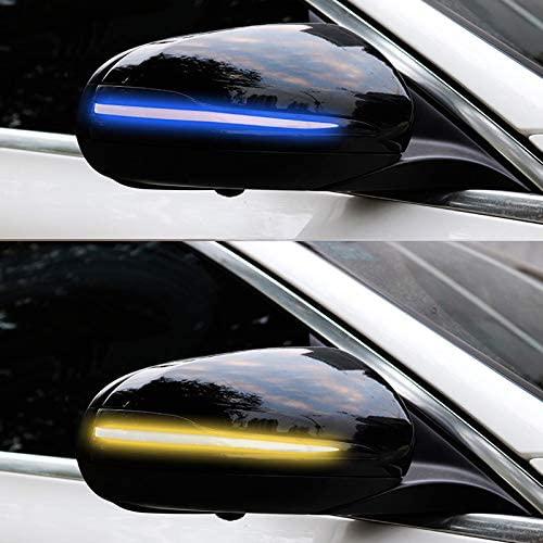for Mercedes Benz GLC-Class X253 14-19/ C-Class W205 15-19/E-Class W213 16-19 /V-Class Metris W447 16-19/S-Class W222 14-18 Replacement LED Turn Signal Light Side Wing Mirror Indicator 2PCS