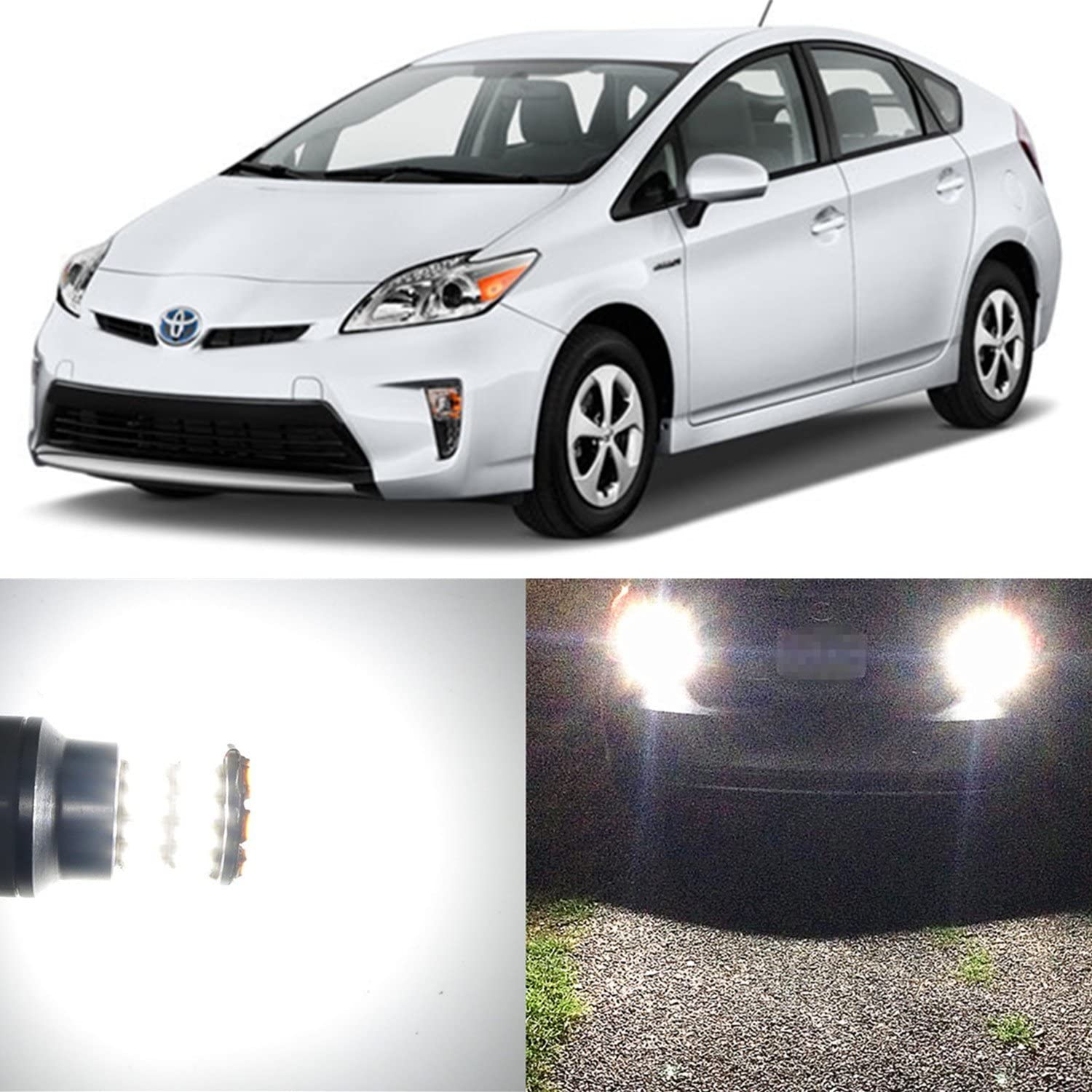 Alla Lighting 2pcs Super Bright 6000K White 921 LED Bulbs for Back-Up Reverse Light Lamps Replacement for 2003 2003 2016 2017 Toyota Prius / 2012 2013 2014 2015 2016 2017 Prius C/Prius Prime