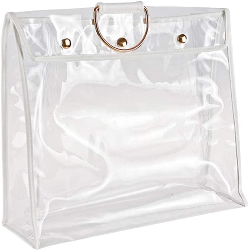 Clear Handbag Organizer,Clear Dust-Proof Bag Case Organizer Woman Transparent Handbag Protector Holder for Travel Beach