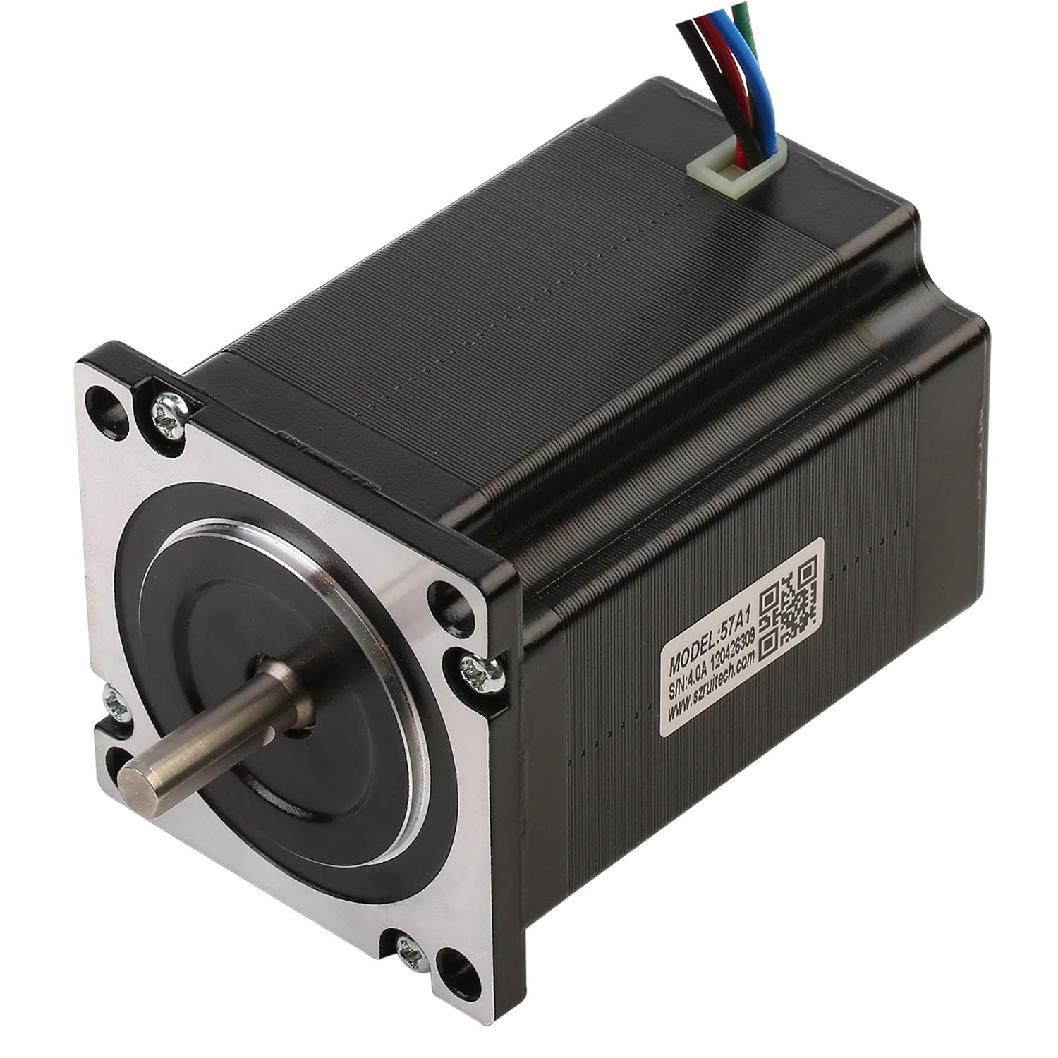 RTELLIGENT 57A1 Nema 23 Stepper Motor Stepping 1.3Nm/184.14oz-in 6.35mm Shaft 4-Wire 2.8A 1.8Deg Low Noise for Laser/CNC Machine