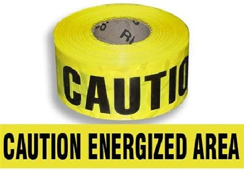 Harris Industries, Inc. BT-9-300-6mil 3in x 300ft Caution Energized Area Barricade Tape