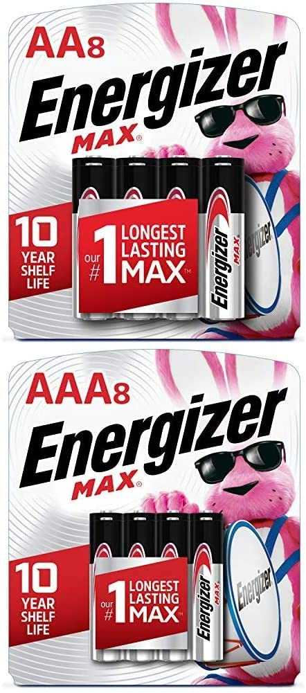 Energizer MAX AA Batteries & AAA Batteries Combo Pack, 8 AA and 8 AAA (16 Count)