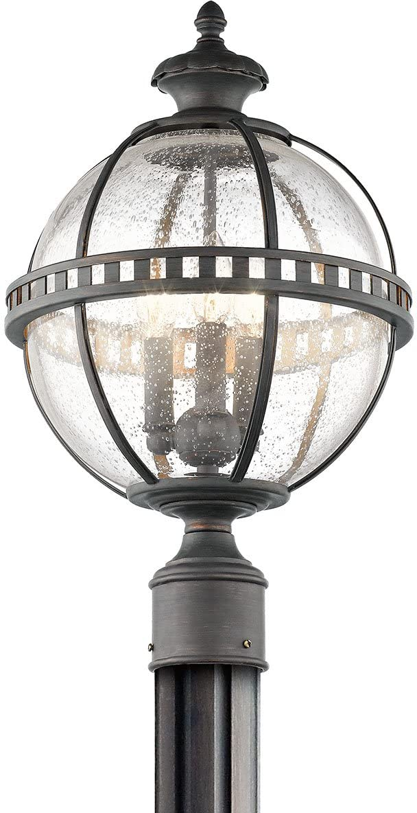 Kichler 49604LD, Halleron Outdoor Post Lighting, 60 Total Watts, Londonderry