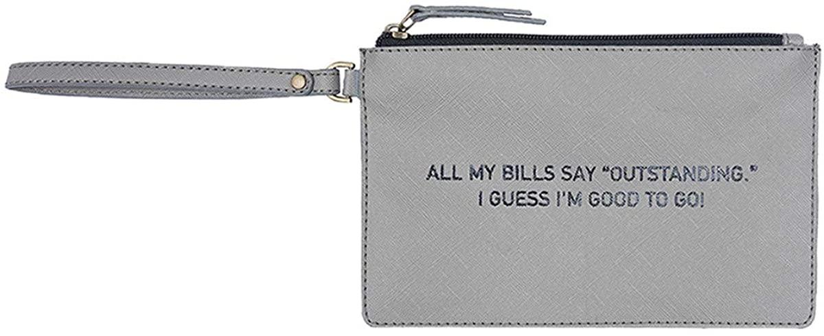 Mona B. Outstanding Vegan Leather Wristlet Bag M-5862