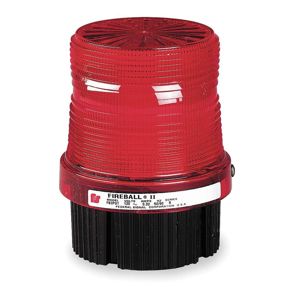 Federal Signal FB2PST-240R Fireball Strobe Warning Light, Single Flash, 1/2