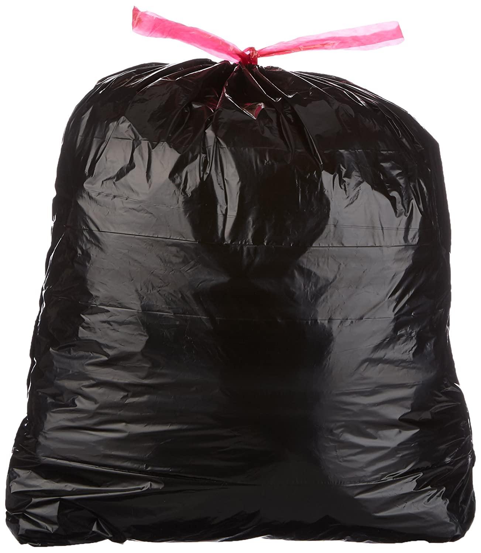 DHgateBasics 30 Gallon Large Trash Bag with Draw Strings, 1.2 mil, 120-Count