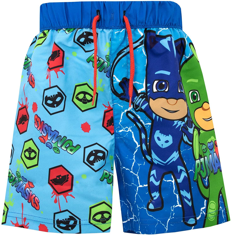 PJ Masks Boys' Catboy Gekko and Owlette Swim Shorts