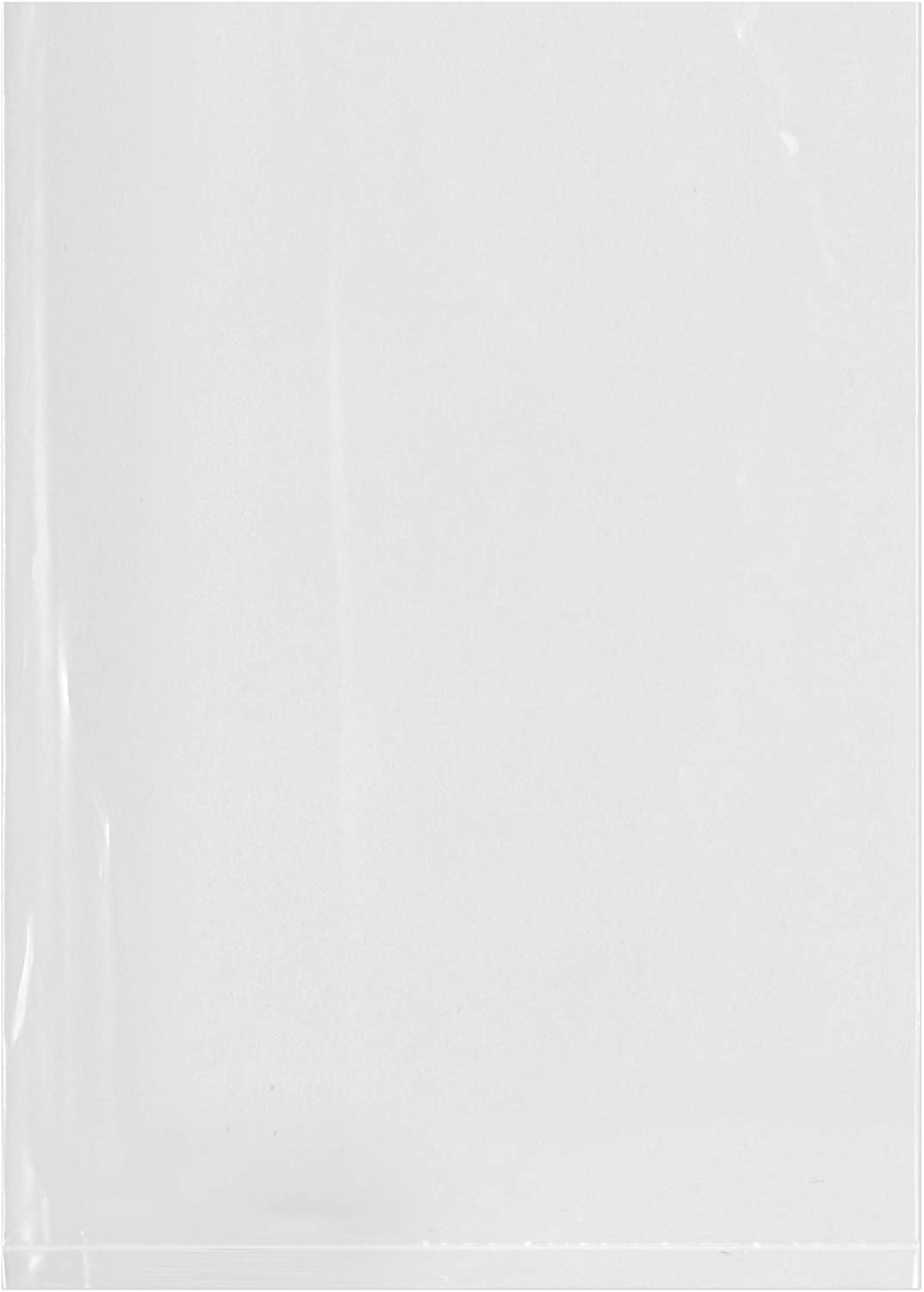 Plymor Flat Open Clear Plastic Poly Bags, 2 Mil, 5 x 7, case of 1000