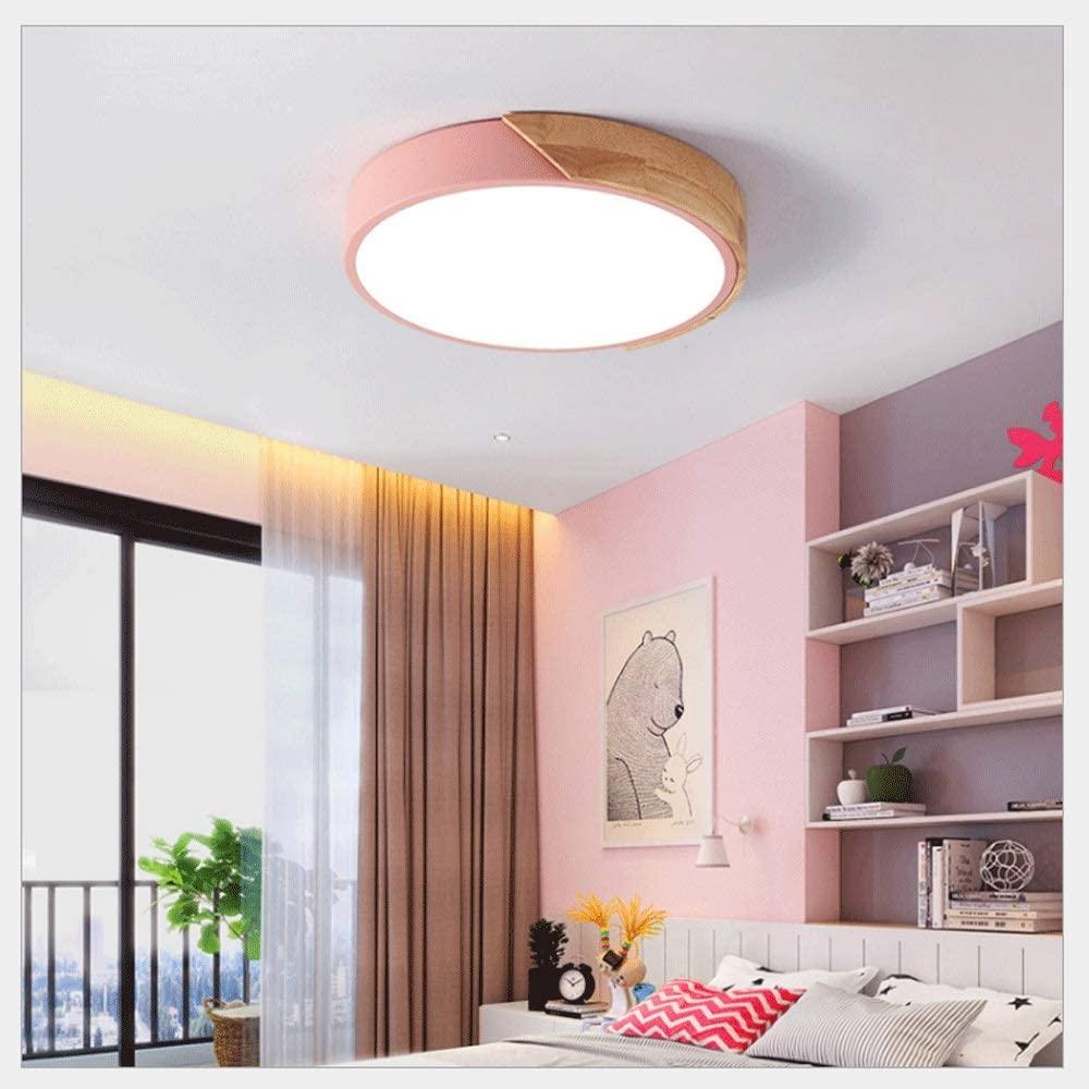 Qyyru Nordic Living Room Ceiling Lamp Macaron Ultra-Thin 5cm LED Round Light Modern Acrylic Log Surface Mount Ceiling Lights Bedroom Kitchen Lighting Fixture, Multiple Colour (Size: 30cm, 40cm, 50cm)